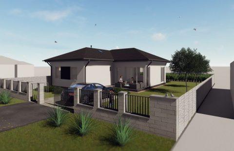 (Ref.:HIC112) Modern, földszinti új építésű 102 m2, 5 szobás ECO tégla családi ház Levélen kivitelezőtől eladó