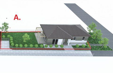 Új építésű 113,5 m2, 3 szoba + nappalis tégla családi ház hőszivattyús fűtéssel Kimlén eladó (KIM113)